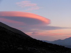 Lenticular Sunset (Rod Chile) Tags: chile sunset cloud 66 explore lenticular metropolitana nube 48 santuario regin yerbaloca specnature nearsantiago