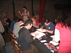 Drinking & Drawing (Fred Seibert) Tags: portland drawing drinking artists animation cartoons drinkinganddrawing animationfestival frederator danmeth platformanimationfestival platformfestival platform2007 drinkingdrawing