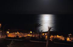 Moonlight on the Red Sea, Dahab, Egypt (Rowan Castle) Tags: sea castle film beach night canon hotel coast lowlight fuji desert dahab redsea egypt slide shore moonlight fujifilm rowan provia 100f eos300 highquality tamron28105mmf456if 1egypt0115 bedouinmoonhotel unfinished2011nosie