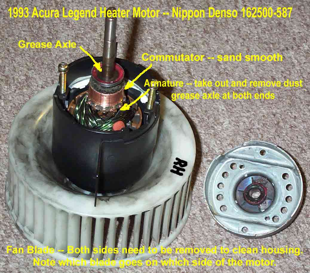 DIY Pics Blower Unit Removal Page The Acura Legend Acura RL - Acura legend blower motor