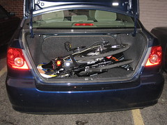 When folded, the Dahon Matrix fits in the trunk of a medium-size car (bousinka) Tags: bike matrix folder folding dahon