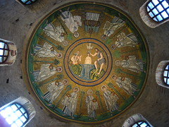 Ceiling Mosaic, Arian Baptistry, Ravenna
