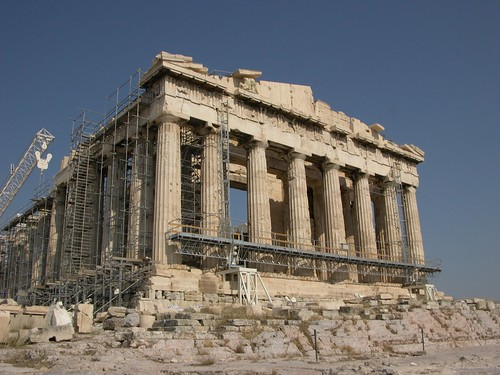 Classic photo of the Parthenon