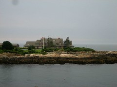 zooming in on the Bush compound