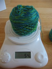 Yarn on the scale