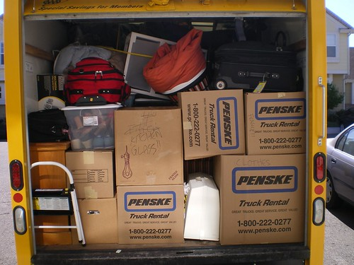 Packing a truck is a lot like Tetris