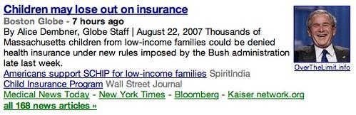 Google News Makes George Bush Look Evil