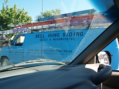 That's what I thought I saw... (Phydeaux460) Tags: idaho boise van siding decks woodworking boiseidaho contractors wellhung senseofhumor sexualinnuendo fairviewave doublemeaning