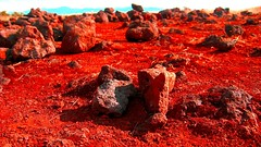 Mars? (Rush Nerd) Tags: mars rock photoshop rocks here saturation planet how breathe hue could mountian talbe