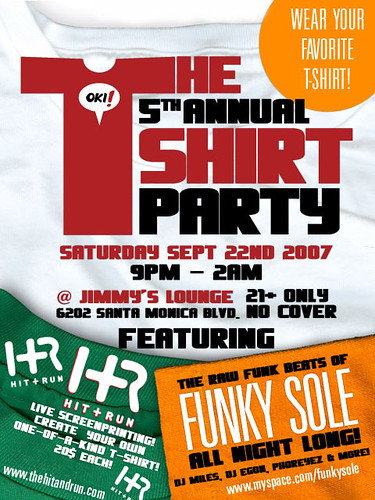 Oki! 5th Annual T-Shirt Party