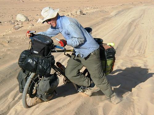Pushing through the Nubian desert in Sudan