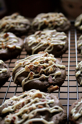 White Chocolate Turtle Cookies.