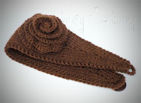 Ravelry Knit Earwarmer With Crochet Flower Pattern By Ashlee Prisbrey Classy Ear Warmer Headband Crochet Pattern