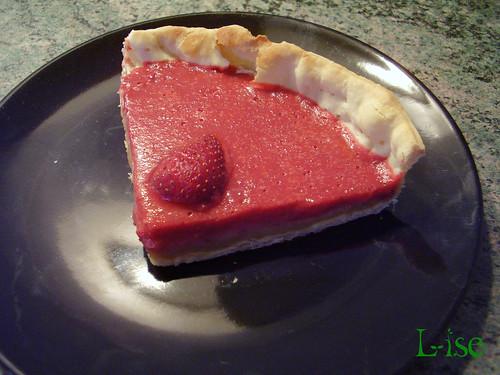 tarte miroir fraise part