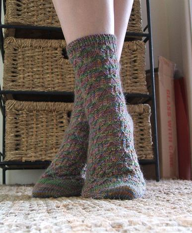 Elfine's socks - ta da!