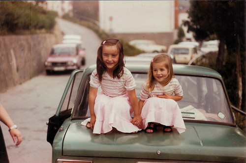 Marga and Belén On Car
