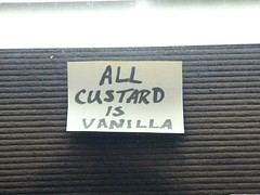 ALL CUSTARD IS VANILLA. PERIOD. (alist) Tags: summer menu frozen midwest stlouis postit line note alist missouri icecream wait vanilla custard treat stl teddrewes robison alicerobison