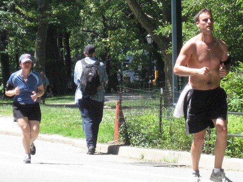 Running.. mid day in Central Park