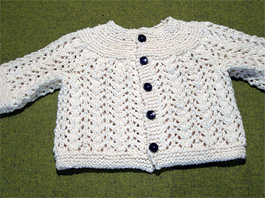 February Baby Sweater, another view