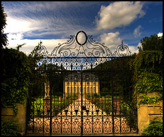 The gate (Pixelinthebox) Tags: road sky cloud house statue garden nikon gate glory luxembourg coolest hdr orangerie echternach d80