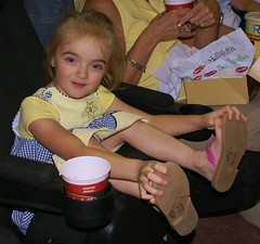 It's Tough When You're Not Heavy Enough to Hold the Seat In Place (ninjapoodles) Tags: movie sponsored theater littlerock harrypotter grayson vip arkansas bella breckenridge screening preview smithbarney jasonsdeli orderofthephoenix boxsupper 25hourslongbutfeltlikeaweek rundontwalksaveyourselvesfromthismovie