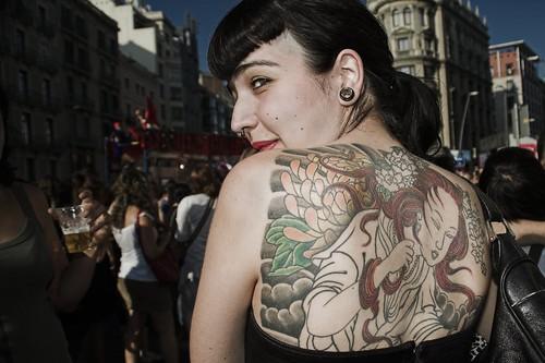 Tatuada por Sergi Bernal.