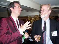 Ted Rall and Tim Eagan at the AAEC Closing Banquet