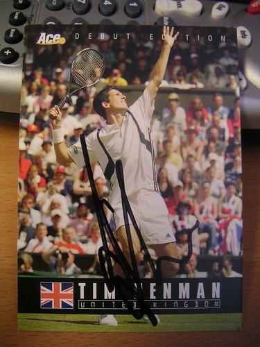 Tim Henman - Henman Card Signed