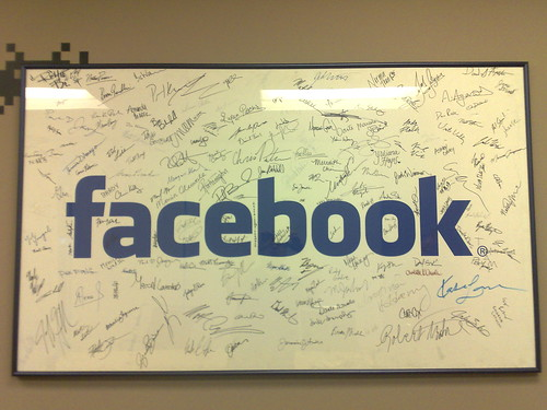 Poster inside a Facebook office