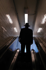 Into the Light (Rafal Bergman) Tags: man d70 city nyc new york usa ny manhattan subway escalator