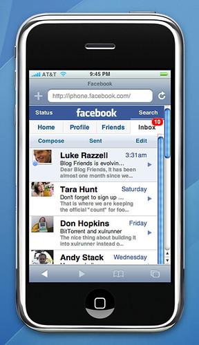 Facebook Inbox on iPhone