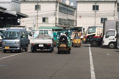 Anything goes at Tsukiji, no rule of the road