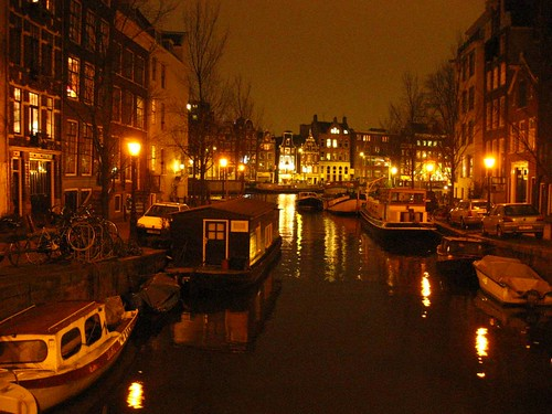 Amsterdam de noche Foto