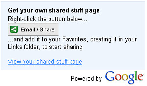 Google Shared Stuff