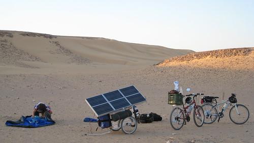 solar bike trailer