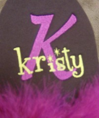 sparkle font (Order at: thekooziefloozie@aol.com) Tags: wedding orange cats beer bar hellokitty feathers lsu zebra fleurdelis custom sodas rhinestones personalized initials hotpink receptions koozies sanario