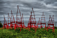 Art exhibition (larigan.) Tags: lighthouse artexhibition redchairs alnes outdoorexhibition gody larigan alnesfyr phamilton astrieidsethrygh havkjenning
