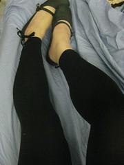 Leg in black