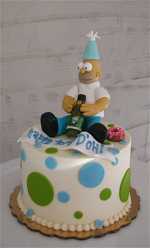 Homer Simpson Birthday Cake