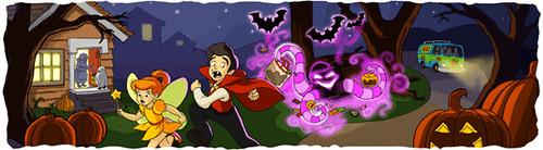 Google Halloween dengan 1