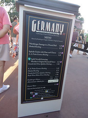 food and prices for Germany at EPCOT