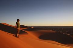Merzouga, Sahara Desert, Morocco (Jim Shannon) Tags: travel camping light red orange tourism evening sand glow crossing desert northafrica dunes 4wd camel morocco berber canon5d ripples tours mules earlyevening merzouga saharadesert
