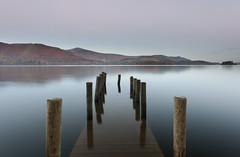 Submerged (Reed Ingram Weir) Tags: autumn sunrise jetty fineart lakes cumbria derwentwater submerged thelakedistrict reedingramweir riwp