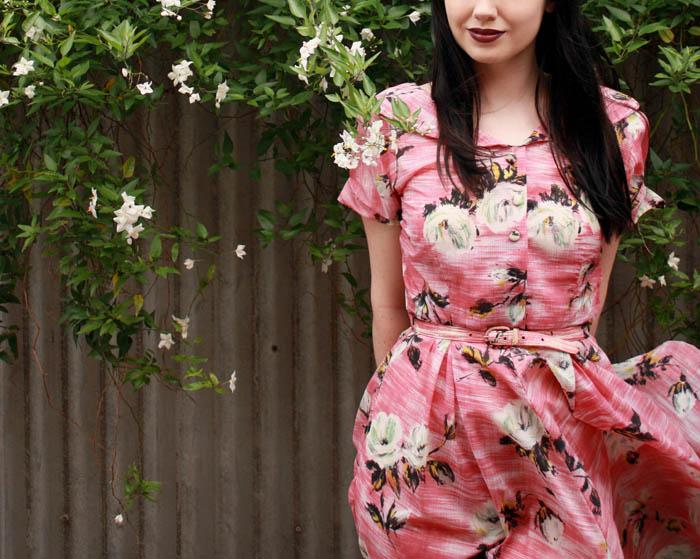 f pink floral d