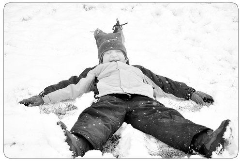 Niamh Snow Angel B&W