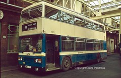 WMPTE Leyland Titan 7003 at Perry Barr Garage in 1982 (Lady Wulfrun) Tags: 1982 garage titan perry barr leyland b15 7003 lte wmpte