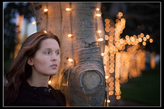Light forest (James_Jackson) Tags: portrait hot girl night canon lights bokeh 5d 5014