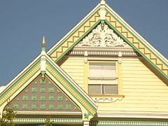 victorian architecture detail on south van ness avenue near 19th in the mission (nolehace) Tags: sanfrancisco favorite architecture lady painted victorian gingerbread paintedlady nolehace coolestphotographers tncdcpitw
