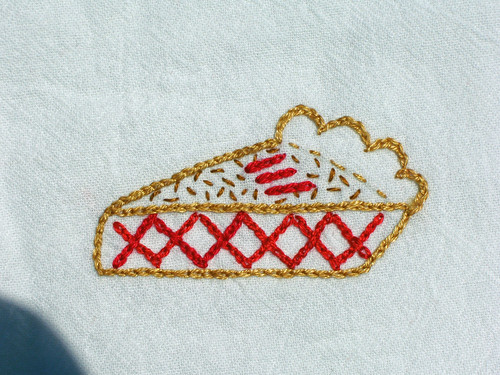 Fruit Pie embroidery