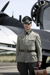 Tom Cruise dressed in his role as Nazi German Colonel Claus von Stauffenberg